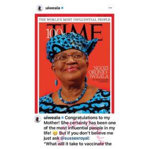 Writer Uzodinma Iweala celebrates his mom for making 2021 Time magazine's 100 most influential people list [Swipe]