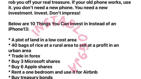 You don't need an iPhone 13. You need a new investment — Reno Omokri