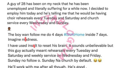 Businessman shares his experience with a new staff who demanded 4 off-days weekly