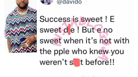 Singer Davido shares his candid view about success