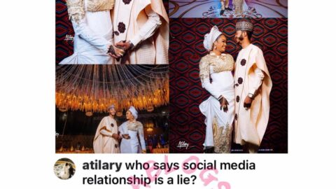 True Love: Gov. Badaru's son, Abdurrahman, and his fiancée, Affiya, tie the knot after meeting on Snapchat