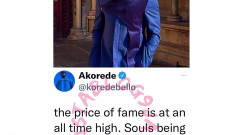 The price of fame is at an all time high — Singer Korede Bello raises alarm