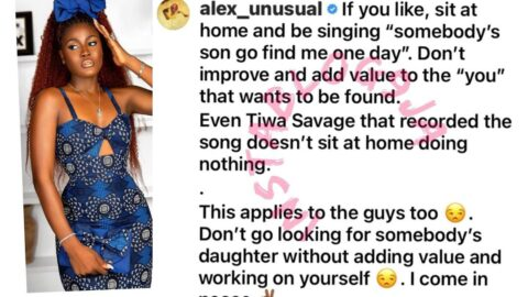 Reality TV Star, Alex Unusual, addresses those praying that somebody's son should find them one day
