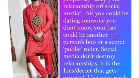 """""""Social Media don't destroy relationships,the lies do"""" Business man Dexy laments"""