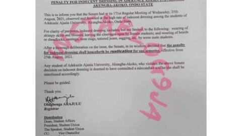 AAU to suspend students for a semester over braids, dreads, earrings, skimpy skirts and sagging