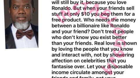 Don't treat celebrities better than your friends — Reno Omokri