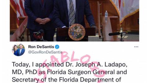 Florida Governor, Ron DeSantis, appoints Nigerian-American, Joseph Ladapo, as Florida's Surgeon General and Secretary of the Florida Department of Health