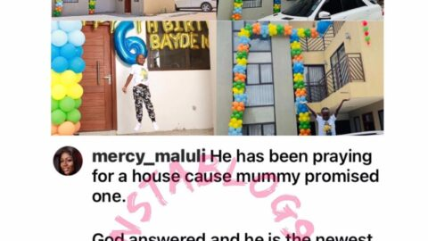 For his 6th birthday, Kenyan businesswoman gifts son a mansion
