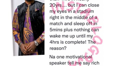 I've hardly slept more than 4hrs in nearly 20yrs because rich people don't sleep more than that — Actor Deyemi Okanlawon