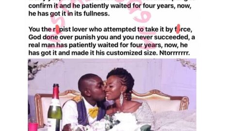 Newly-wedded lady speaks after waiting till her wedding night before losing her chastity. [Swipe for GRAPHIC content]