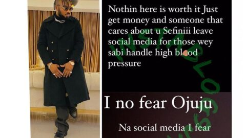 Nothing is worth it on social media — Singer Slimcase