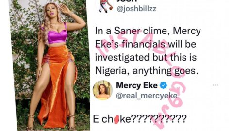 Reality TV Star, Mercy Eke, responds to a man who wants her income audited