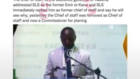 Between Kaduna State' ex-COS and Emir Sanusi — Economist Farouq