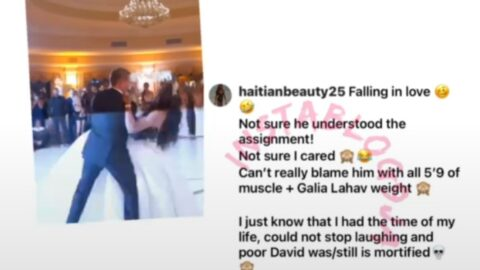 Lady 'falls in love' again during her wedding dance