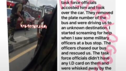 Bus passengers rescued from fake Task Force officials trying to kidnap them