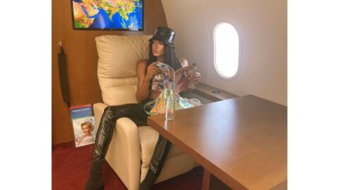 Popular cross dresser Goldtiful secure the bag and iPhone 13 pro max as her sugar daddy fly her with his private jet to Nairobi