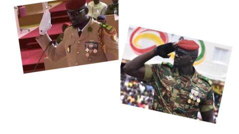 Guinea Coup leader sworn in as interim President .