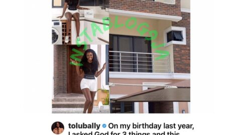 Tailor Tolubally gifts herself a house on her birthday. [Swipe]