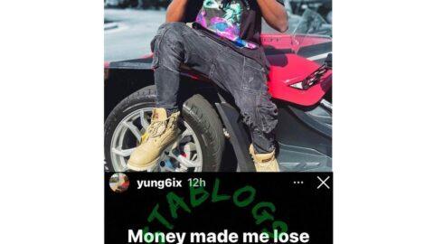 Rapper Yung6ix calls out 'money'