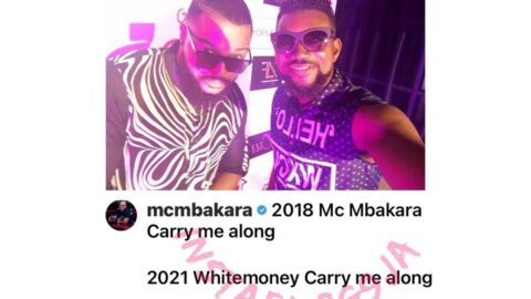 Using an old picture with Whitemoney, actor Mbakara reveals what life is about