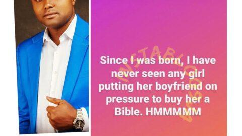 I've never seen a girl pressurizing her boyfriend to buy her a bible — Singer Davido's PL manager, Israel