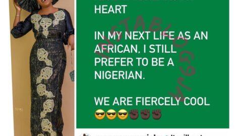 In my next life, I still prefer to be a Nigerian — Actress Mary Njoku