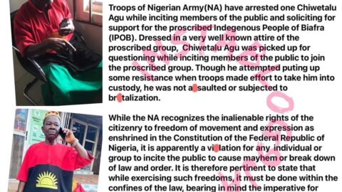Actor Chiwetalu Agu was soliciting for support for the proscribed IPOB — Nigerian Army [Swipe]