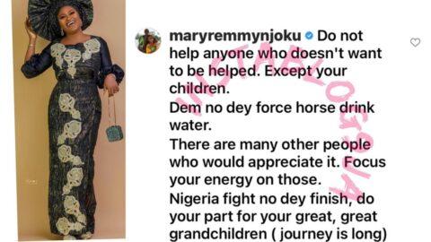 Nigeria: Do your part — Actress Mary Remmy tells her colleague, Ruth Kadiri [Swipe]
