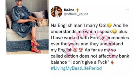 Reality TV Star, Ka3na, replies those criticizing her diction. [Swipe]