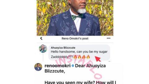 Reno Omokri replies an aspiring sugar baby