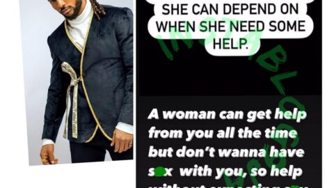 Help a woman without expecting s*x in return – Singer, Minjin