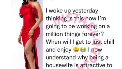 I now understand why being a housewife is attractive to some people — Reality TV Star, Erica Nlewedim