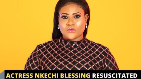Actress Nkechi Blessing resuscitated after fainting at her mom's burial