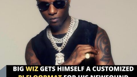 Big Wiz gets himself a customized PJ floormat for his newfound status