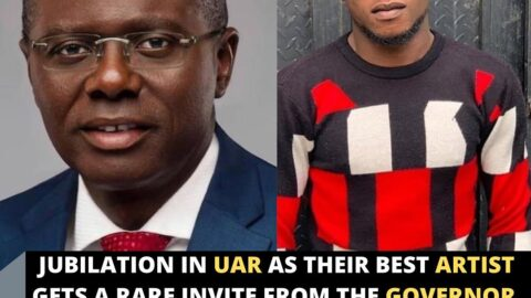 Jubilation in UAR as their best artist gets a rare invite from the Governor of Lagos State.