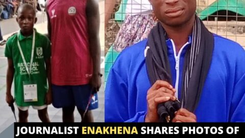 Journalist Enakhena shares photos of the 12 and 13 year olds at a competition in Ilorin, Kwara State