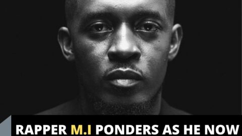 Rapper M.I ponders as he now boards commercial tricycle