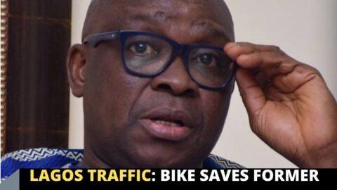 Lagos Traffic: Bike saves former Gov. of Ekiti State, Ayo Fayose, from missing his flight
