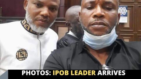 Photos: IPOB leader arrives court for the continuation of his trial