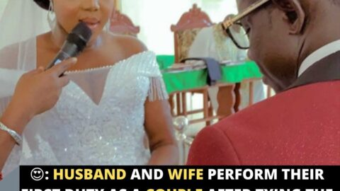 Husband and Wife perform their first duty as a Couple after tying the knot in Irri, Delta State
