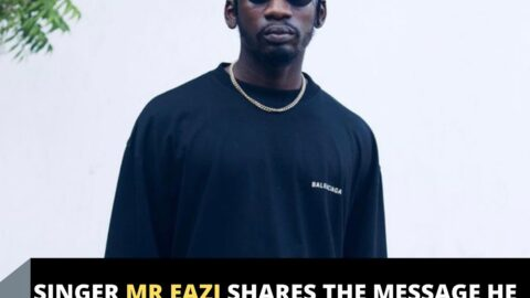 Singer Mr Eazi shares the message he received from a fr*udster