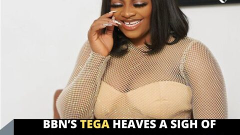 BBN's Tega heaves a sigh of relief as her colleague's fans surprise her with gifts
