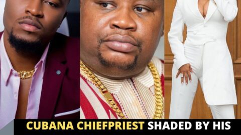 Cubana Chiefpriest shaded by his estranged in-law as he poses with Maria